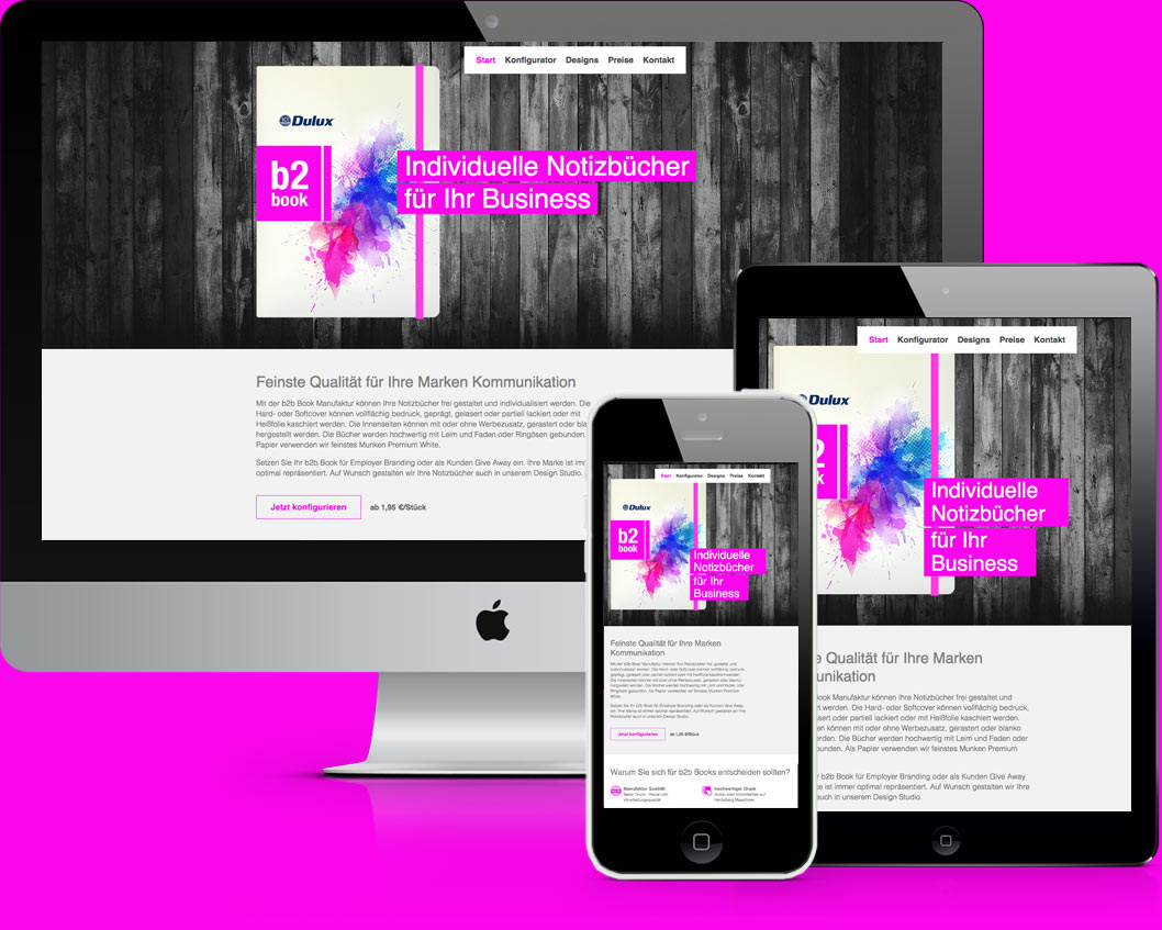 b2book Website Design & Coding