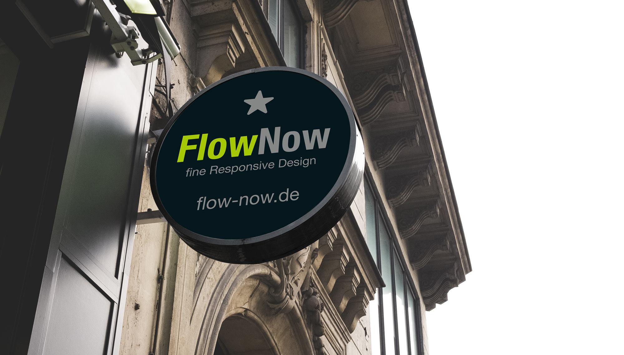 FlowNow Shop Sign