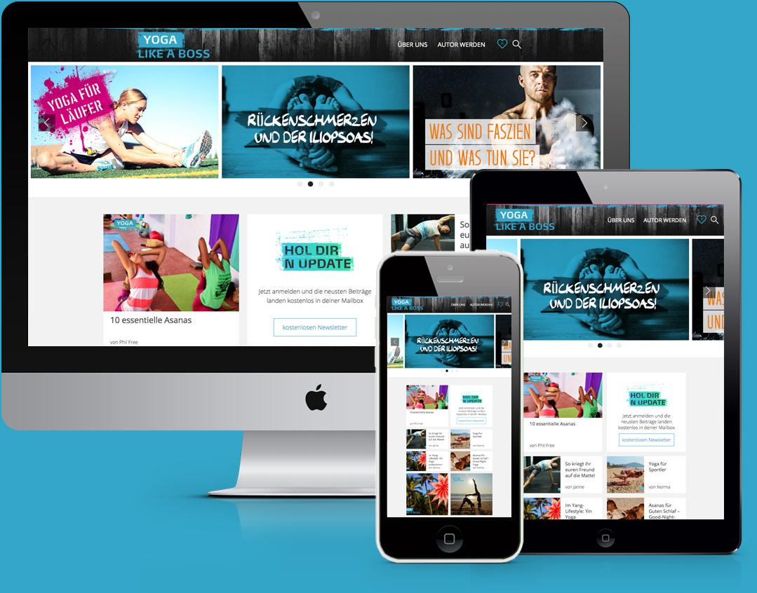 Yoga Like a Boss Website Design & Coding